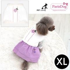 패리스독 한복 누빔배자 핑크 XL