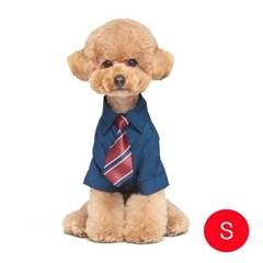 강아지 메리미 셔츠 네이비 S