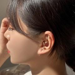 리프 나뭇잎 크롤러 후크 귀걸이