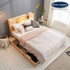 잉글랜더 미뉴엣 LED 원목 수납 침대(DH 7존 라텍스 독_(13065782)