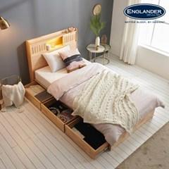 잉글랜더 미뉴엣 LED 원목 수납 침대(DH 7존 라텍스 독_(13065775)