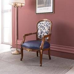 수입 엔틱가구 TR 25 리버티 1인 블루 소파 겸용 의자