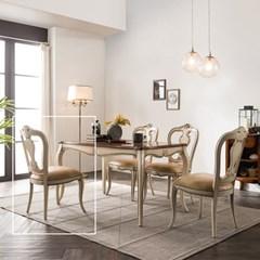 수입 엔틱가구 RG 22 프리미엄 아이보리 식탁 의자