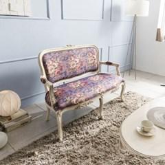 수입 엔틱가구 RG 22 2인 미색 소파 겸용 의자