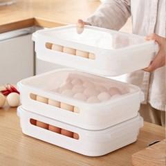 냉장고 신선 달걀보관 손잡이 커버형 24홀 에그트레이_(1310830)