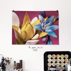 패브릭 포스터 F345 꽃 그림 빈티지 감성 액자 블루밍 B