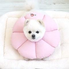 강아지 꿀잠 잠옷 카라 핑크_(764435)