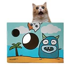 고양이 스크래쳐 카툰 몬스터 하우스 (블루)_(764491)