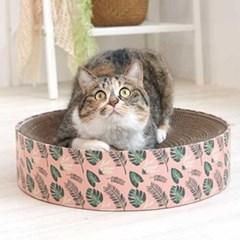 핑크네이처 고양이 원형 스크래쳐_(764513)