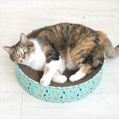 동물친구들 고양이 원형 스크래쳐_(764515)