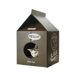 밀크팩 스크레쳐 고양이 하우스 (초코우유)_(764489)