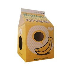 밀크팩 스크레쳐 고양이 하우스 (바나나우유)_(764488)