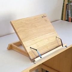 12단 각도조절 필기 독서대 400 고무나무 휴대간편