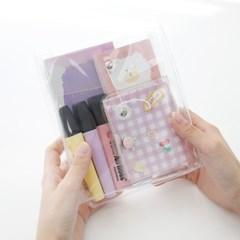 모모팝 투명 PVC 파우치