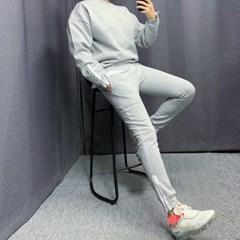 봄 상하세트 루즈핏 형광배색 맨투맨 밴딩 트레이닝 팬츠