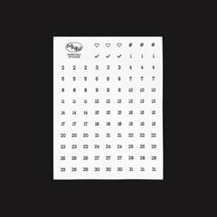 Monthly Sticker_White