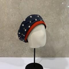 도트 땡땡이 데일리 꾸안꾸 패션 베레모 모자