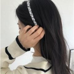 1cm 미아미고 트위드 헤어밴드 8colors / 자체제작