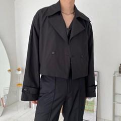 벨리 숏 자켓 크롭 트렌치 코트 2color