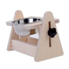 강아지 고양이 각도조절 식기 테이블 스테인레스 1구
