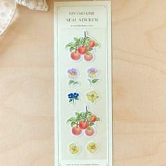 빈티지 열매꽃 씰스티커