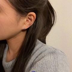 [925실버] 블루데이지 큐빅 귀걸이