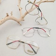 도수없는 가벼운 투명 금테 자외선차단 패션 안경