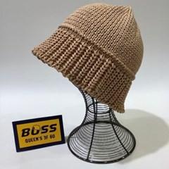 숏챙 뜨개 데일리 꾸안꾸 패션 버킷햇 벙거지 모자