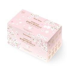 벚꽃 리미티드 마스크 연분홍 30매+흰색 30매