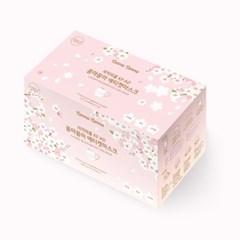 꼼마꼼마 벚꽃 리미티드 마스크 흰색 30매 X 1박스