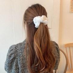 [1+1][8color] 쭈글이 휘핑크림 스크런치 곱창 머리끈