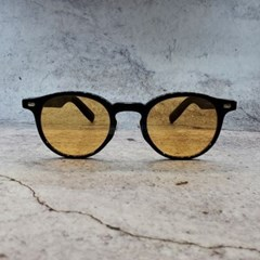 둥근 오렌지 가벼운 도수없는 데일리 패션 선글라스