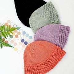 지사 뜨개 기본 챙넓은 패션 버킷햇 벙거지 모자