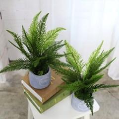 인조나무 인테리어 조화 화분 솔향고사리 2p set_(2387230)