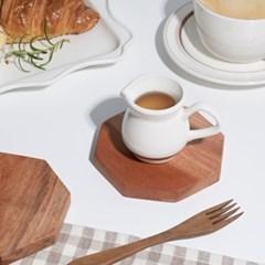 데이 우드 코스터 컵받침 오브제 팔각 / 카페 소품_(1820121)