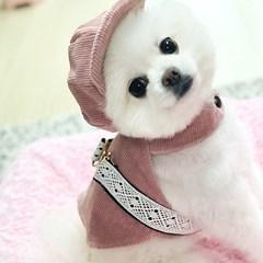 코듀로이 레이스 하네스 - 핑크