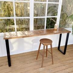 수제공작소 아카시아 원목 콘센트 빌트인 홈바 테이블