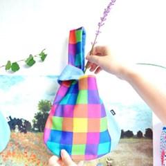 Damryeo Handbag Samll-Rainbow Check