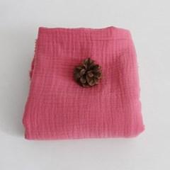 [Fabric] 피그먼트 거즈 2중지 베리 핑크