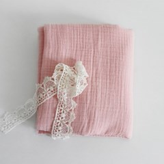 [Fabric] 피그먼트 거즈 2중지 베이비 핑크