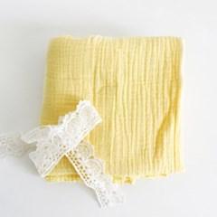 [Fabric] 피그먼트 거즈 2중지 크림 옐로우