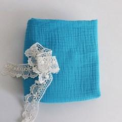 [Fabric] 피그먼트 거즈 2중지 코발트 블루