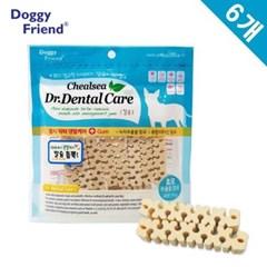 강아지 입냄새 먹는 양치 칼슘 x6개 치아 관리 애견