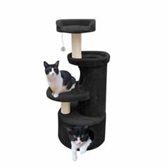 유로펫 점프 고양이 캣타워 블랙