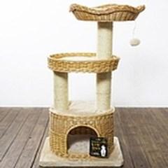 천연 버드 나무 캣타워 고양이 장난감 놀이터 가구