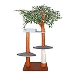 자연 나무 디자인 스크래처 라운지 고양이 캣타워