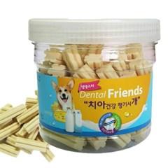 강아지 치아 건강 덴탈 프랜즈 밀크치즈 300g 치석