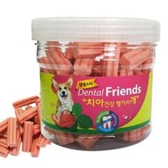 강아지 치아 건강 덴탈 프랜즈 딸기 300g 치석 제거