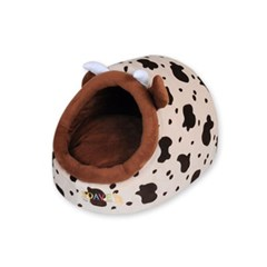 애니멀 하우스 젖소 반려동물 하우스 방석