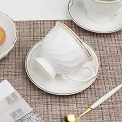 글래드 도자기 커피잔+받침 1인세트 2color_(1823905)